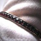 Antique Victorian Rose Cut Bohemian Garnet Bangle Bracelet 1800s Retro