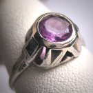 Antique Color Change Sapphire Ring Vintage Art Deco 20s Wedding Ring