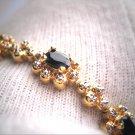Estate Vintage Sapphire Bracelet Eternity Retro Floral Deco Motif