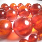 Antique Baltic Amber Necklace Natural Gorgeous Color 20mm Bead 1920s