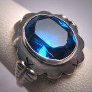 Antique Sapphire Ring Victorian Wedding Estate Vintage 1930 Art Deco