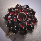 Antique Victorian Bohemian Garnet Ring Vintage Wedding c1900
