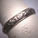 Antique Eternity Band Ring 18K Vintage Art Deco Floral Wedding 5