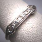 Antique Diamond Wedding Band Ring Granat Brothers 18K Vintage Art Deco c.1920