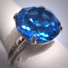 Antique Sapphire Ring Victorian Art Deco Vintage Silver 20s Wedding Engagement