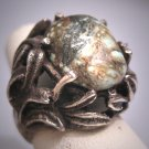 Antique Turquoise Ring Vintage Victorian Silver c.1930
