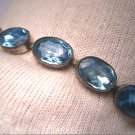 Antique Edwardian Sapphire French Paste Bracelet Wedding Bridal Art Deco 1910