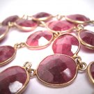 Estate Ruby Gemstone Necklace Vintage Classic Gold Upon Silver
