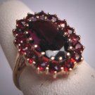 Antique Victorian Garnet Ring Vintage Victorian Art Deco c.1930 Yellow Gold Wedding