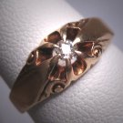 Antique Wedding Ring Mine Cut Diamond Ring Victorian 1800s