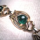 Antique Emerald Paste Bracelet Vintage Art Deco 1930