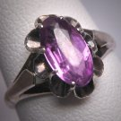 Antique Color Change Sapphire Ring Vintage Art Deco 20s Wedding Ring