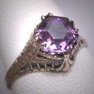 Antique Tiffany Set Garnet Wedding Ring Vintage Ostby Barton c.1900