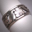 Antique Wedding Band Vintage Art Nouveau Eternity Ring 6