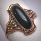 Antique Victorian Bloodstone Ring Wedding Gold 19th Century Art Nouveau
