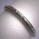 Antique Eternity Band Ring Sterling Vintage Art Deco Floral Wedding 7