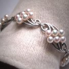 Rare Antique Mikimoto Pearl Bracelet Vintage Art Deco 5mm SS Wedding Bridal w/ Original Box