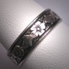 Antique Wedding Band Vintage Art Nouveau Eternity Ring Uncas c.1900 9