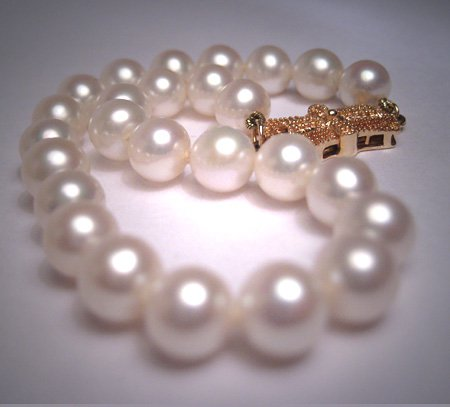Vintage Mikimoto Pearl Bracelet Strand 14K 7inch Akoya Signed 6mm