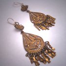 Antique Gold Earrings Oaxaca Mexican Vintage Art Deco 1930