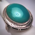 Antique Australian Jade Ring Vintage Art Deco Engraved Silver 1920 Wedding