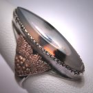 Antique Victorian Moss Agate Ring Gold Handmade Art Deco 1930