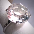 Antique Large Hirkimer Diamond Wedding Ring Vintage Art Deco Engagement 1930