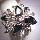Antique Palladium Diamond Sapphire Ring Vintage Art Deco 1920-40's