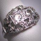 Antique Platinum Diamond Wedding Ring Art Deco 1.06ctw Band Retro 1930 Engagement