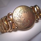 Antique Sweetheart Bracelet Vintage Art Deco Gold Victorian Floral 1930