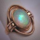 Antique Australian Opal Ring Vintage Victorian Art Deco Wedding c.1920 Gold