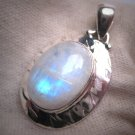 Vintage Large Moonstone Pendant Necklace Victorian Arts and Crafts Style