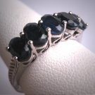 Antique Sapphire Wedding Ring Band Vintage Art Deco Style