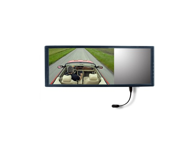 """7"""" inch super thin rear view LCD monitor with bluetooth"""