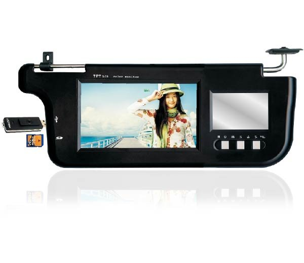"PAIR 7"" INCH TFT LCD SUNVISOR MONITORS W/ SD/MMC & USB"
