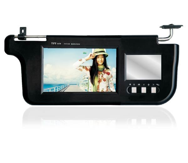 "PAIR 7"" INCH TFT LCD SUNVISOR MONITORS NEW DESIGN"