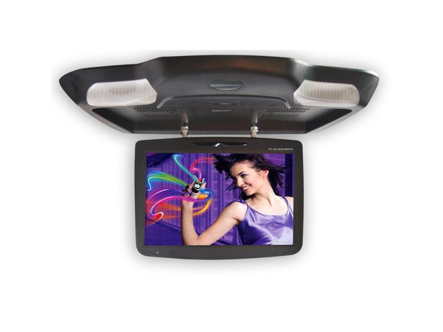 "19"" IR LCD TFT Screen w/DVD Player/USB/SD Overhead Flip-Down Monitor"
