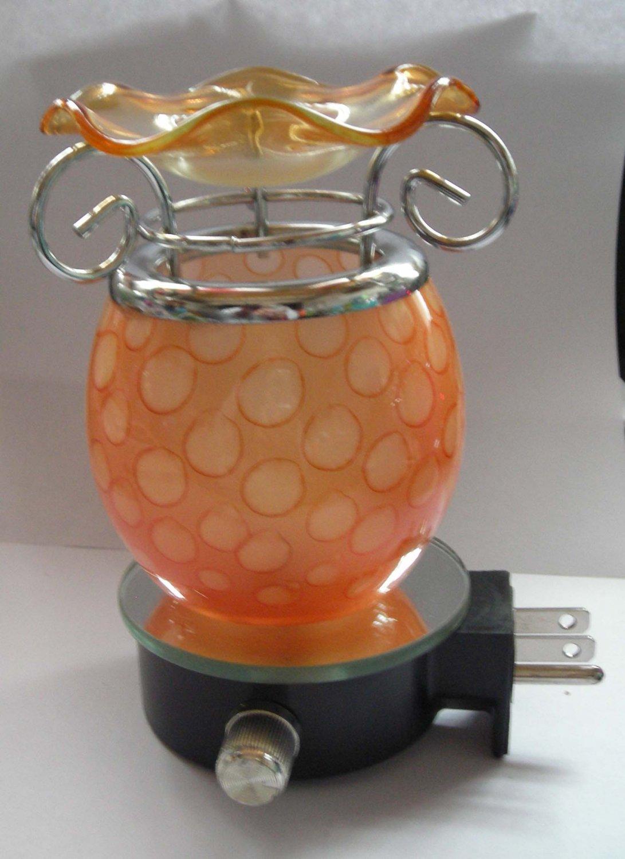 Orange Glass PLUG IN Nightlight TART WARMER