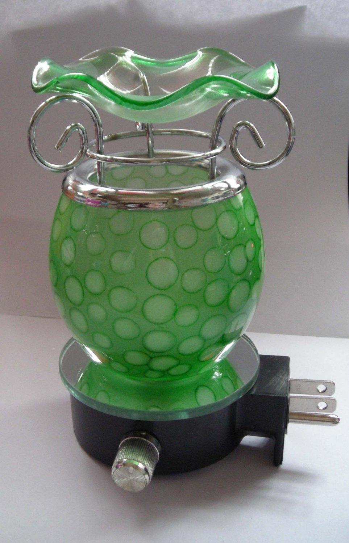 Green Glass PLUG IN Nightlight TART WARMER