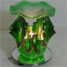 Green Artsy Glass ELECTRIC OIL WARMER