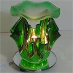 Green Artsy Glass ELECTRIC OIL WARMER
