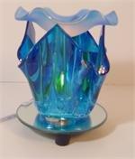 Blue Artsy Glass ELECTRIC OIL WARMER