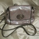 BRAND NEW Coach Audrey Flap Sequin Crossbody - Grey Style #45406