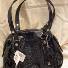 BRAND NEW Coach Audrey Patent Perforated Small Bag - Style 45570 - Navy-Silver