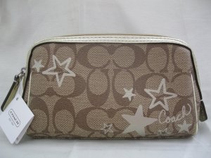 BRAND NEW COACH HERITAGE STAR PRINT COSMETIC CASE - Style #46858