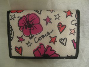 COACH BRAND NEW Kyra Floral Print Card Case Wallet
