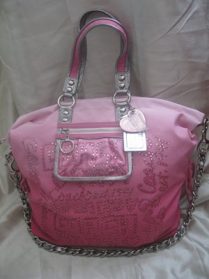 Coach poppy storypatch collectible xl spotlight bag handbag pink 15312