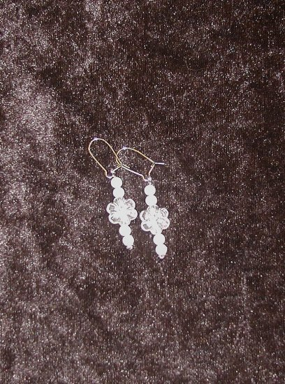 Lily White: Earrings - Medium Length