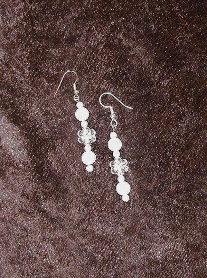 Lily White: Earrings - Long Length