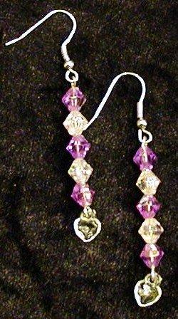 Orchid Hearts: Earrings